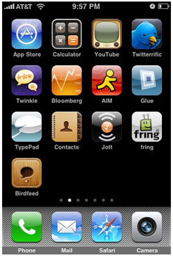 iPhone app organization
